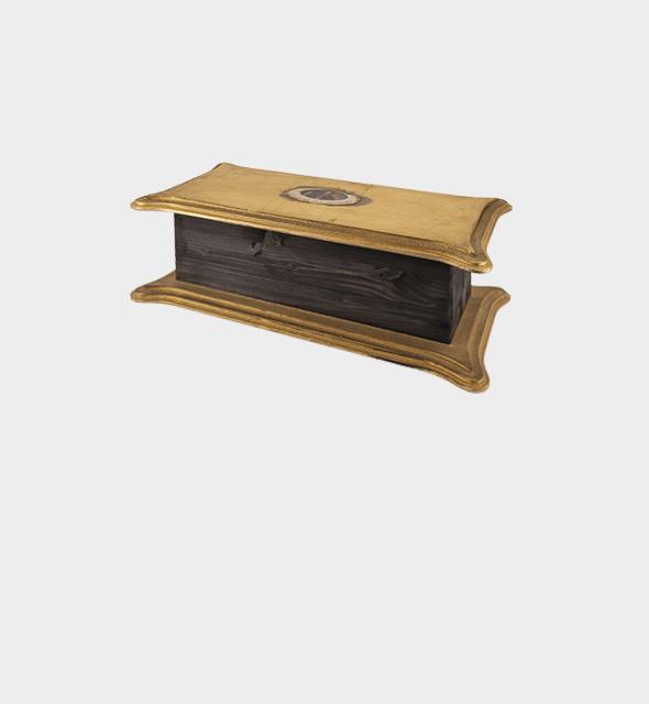 Confezione in legno con decoupage x 1 bottiglia da 75cl