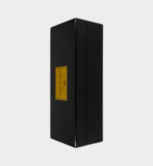 Confezione in legno, nero lucido x 1 bottiglia da 75cl