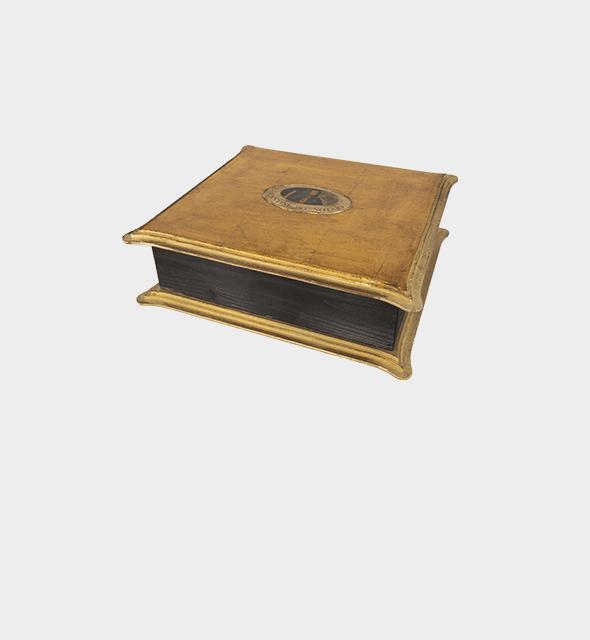 Confezione in legno con decoupage x 4 bottiglie da 75cl